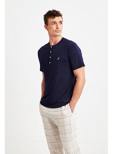Nautica M130 Pijama Takım Lacivert